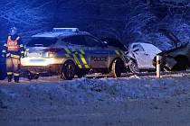 Dopravní nehoda dvou osobních vozidel v obci Velké Losiny - místní část Ludvíkov