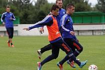 Milenko Malovič (v oranžovém) a Milan Zorica. Sigma zahájila přípravu na první ligu