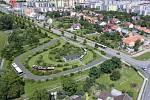 Rozšíření tramvajové trati na Nové Sady a do Slavonína. Vizualizace konečné u křížení Schweitzerova - Jižní ulice