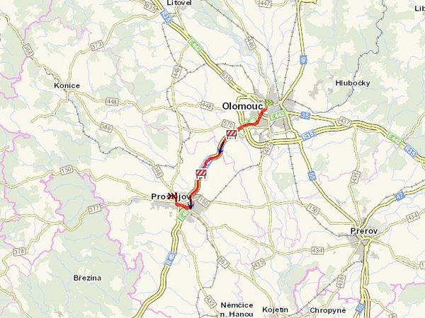 Opravy na R46 mezi Olomoucí a Prostějovem