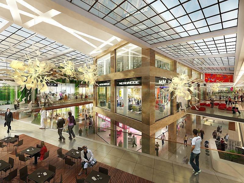 Vizualizace obchodního a společenského centra Galerie Šantovka. Zdroj: Projekt Šantovka