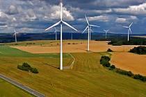 Větrné elektrárny u Horní Loděnice