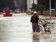 Litovel, Palackého ulice 8.7. 1997
