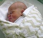 Adam Oháňka, Mostkovice, narozen 19. dubna v Olomouci, míra 51 cm, váha 3780 g