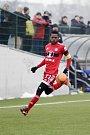 Olomoučtí fotbalisté porazili v přátelském zápase Zlín (ve žlutém) 3:1. Bidje Manzia