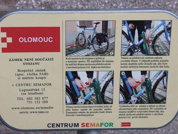 Bezpečnostní stojan na kola vOlomouci