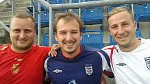 Bratři Večeřovi. Zleva Michal, Miroslav a Jaroslav.