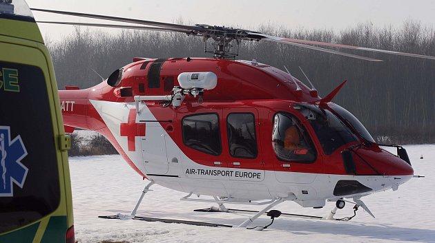 Vrtulník letecké záchranky Olomouckého kraje