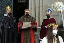 Tři králové v katedrále sv. Václava v Olomouci. 6. ledna 2021
