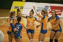 Olomoucké volejbalistky (v oranžovém). Ilustrační foto