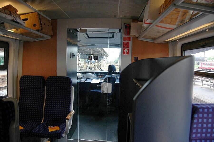 Vlak RegioJetu zevnitř