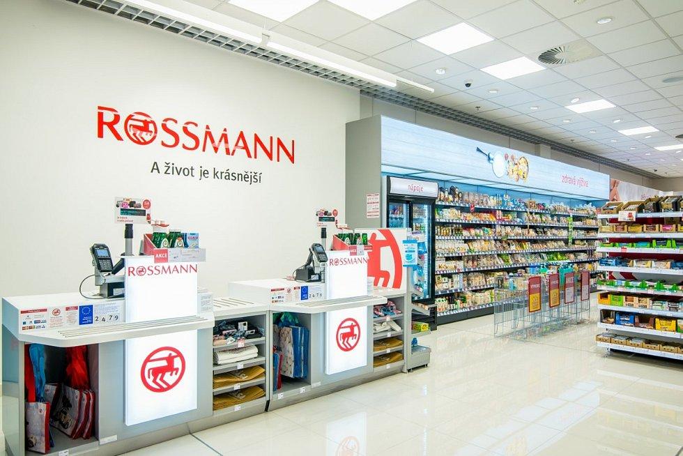 Nová prodejna Rossmann v OC Olomouc City.