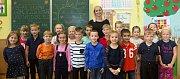 Žáci 1. A ze ZŠ Mozartova v Olomouci s paní učitelkou Lindou Veselou