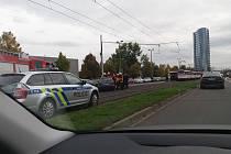 Nehoda v centru Olomouce