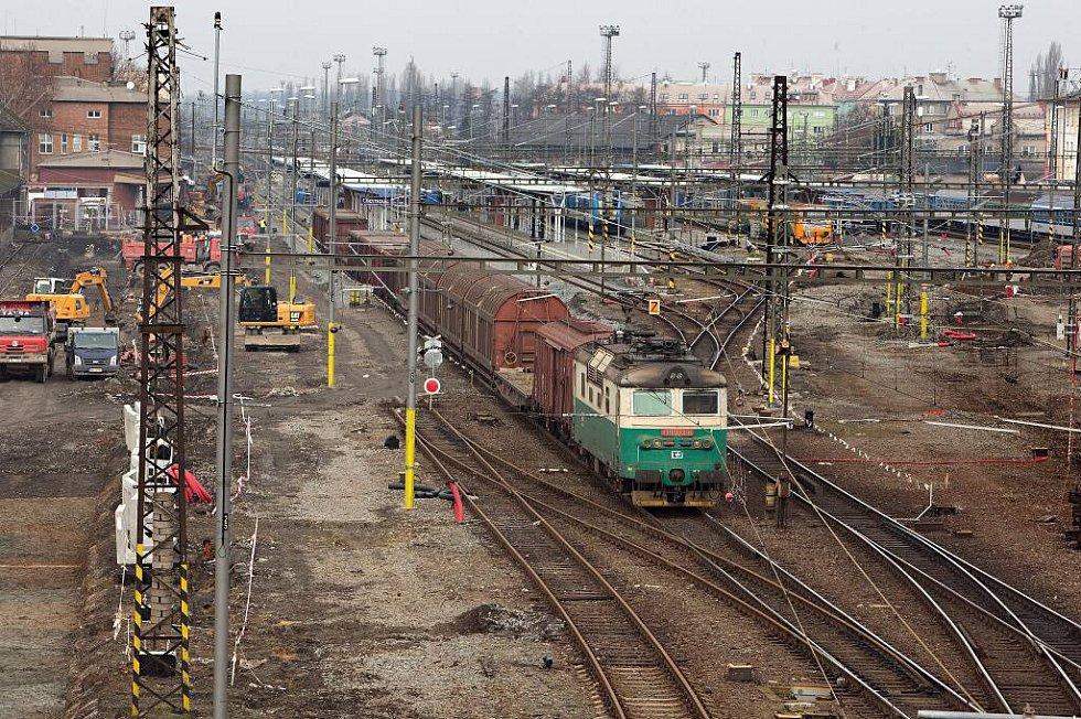 Rekonstrukce železniční stanice Olomouc - únor 2015