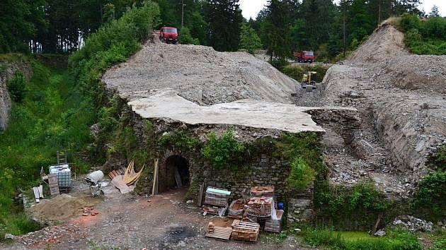 Rekonstrukce části pevnůstky v Olomouci-Radíkově