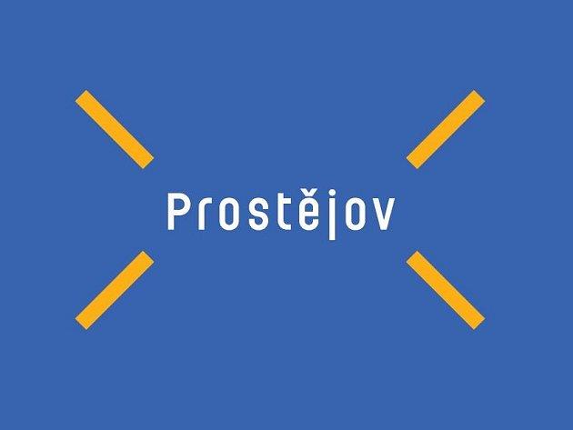 Logo města Prostějova z dílny brněnské grafičky Věry Marešové