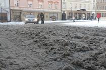 Sněhová situace v Olomouci, čtvrtek 12. ledna
