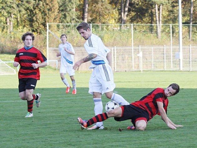 FK Šternberk (v bílém) vs. Sokol Konice