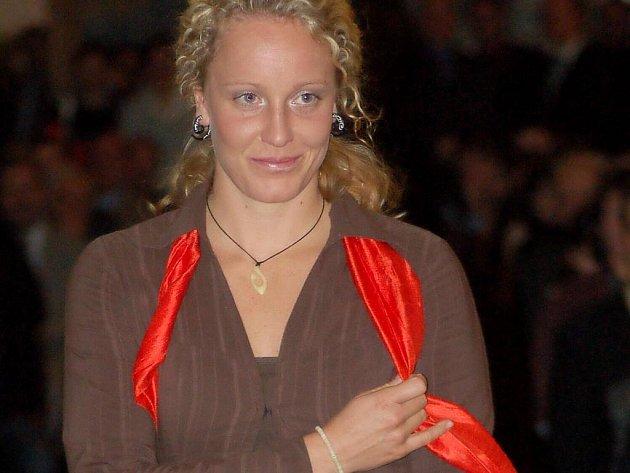Kateřiná Vacíková na vyhlášení Sportovce roku