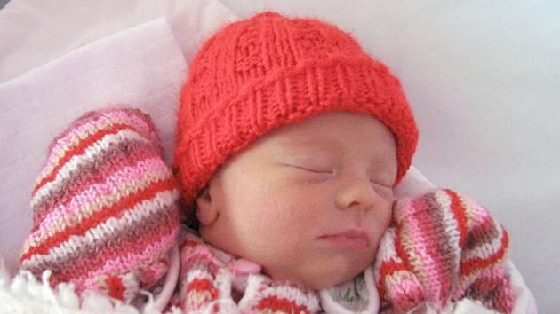 Kateřina Polášková, Prostějov, narozena 19. dubna v Olomouci, míra 48 cm, váha 2490 g