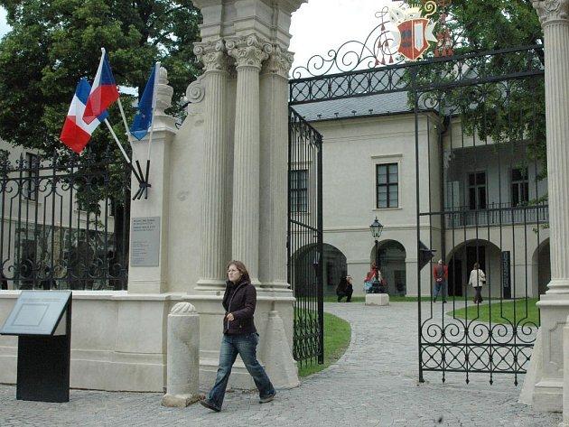 Vstup do areálu Arcidiecézního muzea v Olomouci