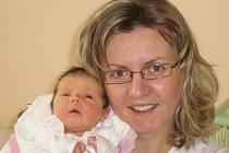 Adéla Pospíšilová, narozená 2.11.2007 v Olomouci, váha: 3310 g, míra: 51 cm, Olomouc