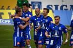 Fotbalisté Olomouce prohráli doma s Příbramí 1:2. radost oslava Lukáš Juliš, Mojmír Chytil, Michal Vepřek, Šimon Falta, Radim Breite