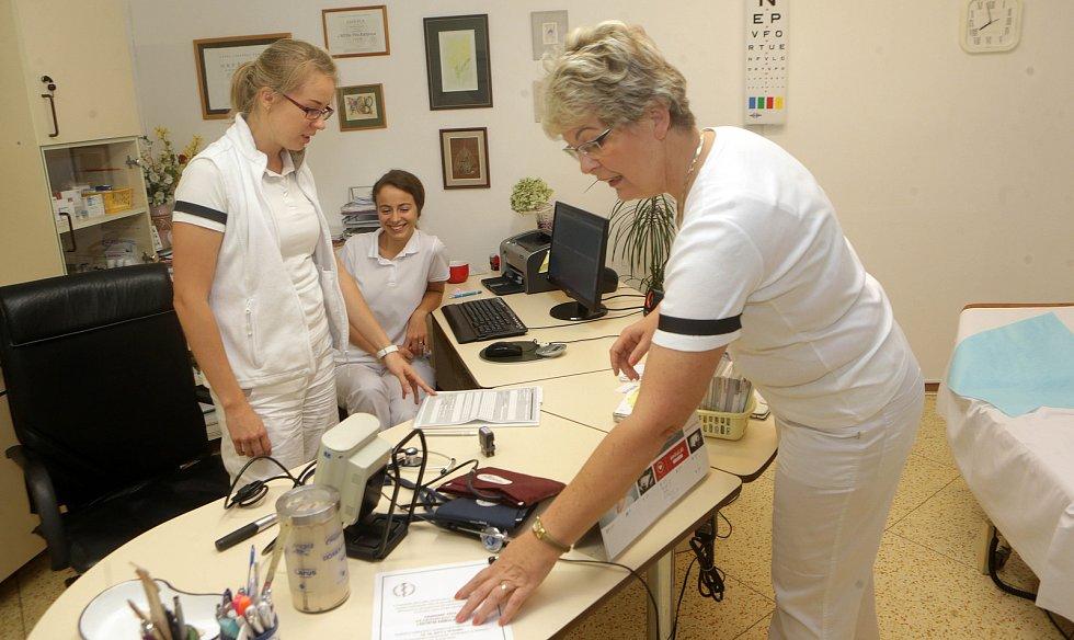 Protest praktických lékařů v Litovli