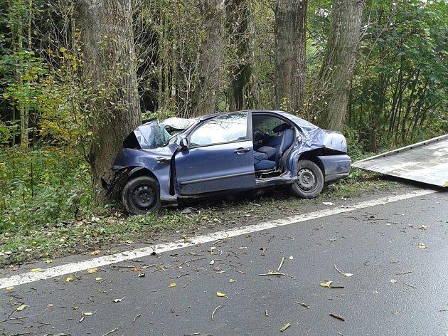 OSUDNÝ STROM.  Na silnici mezi Bludovem a Postřelmovem narazil řidič do stromu, na místě zemřel.