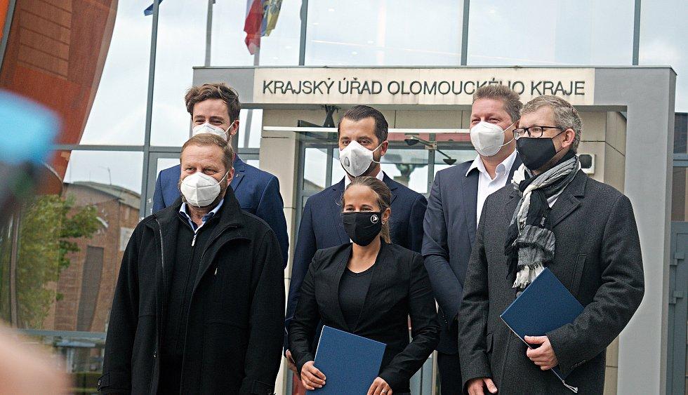 Podpis koaliční smlouvy nové vlády Olomouckého kraje - 26. 20. 2020