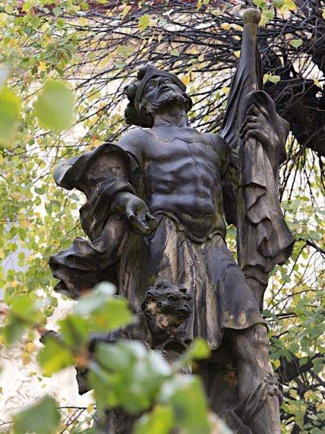 Socha svatého Floriana na Žerotínově náměstí vOlomouci