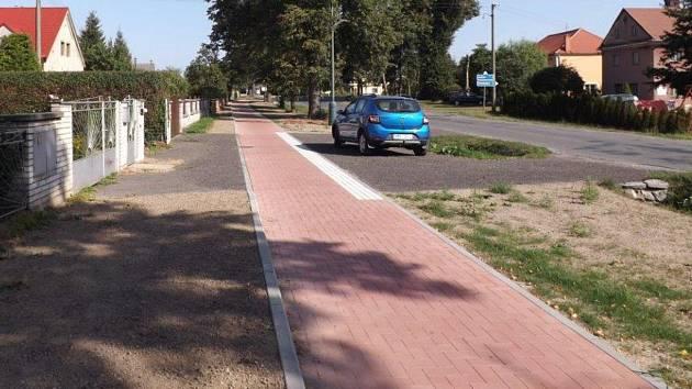 Nová cyklostezka mezi Brníčkem, městskou částí Uničova a Újezdem
