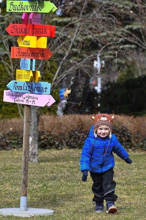 Velikonoční výzdoba  2021 v Hranicích.