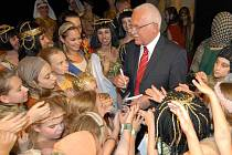 Prezident Klaus na baletním představení Mojžíš v Moravském divadle
