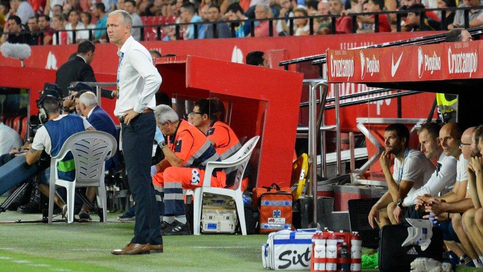 Václav Jílek na stadionu Sevilly FC