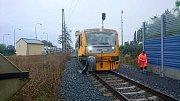 Srážka nákladního auta s vlakem na přejezdu v Pavlovické ulici v Olomouci