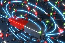 Ilustrace prvního organického magnetu na bázi grafenu s magnetickým uspořádáním při pokojové teplotě