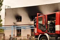 Požár v bývalých olomouckých mrazírnách