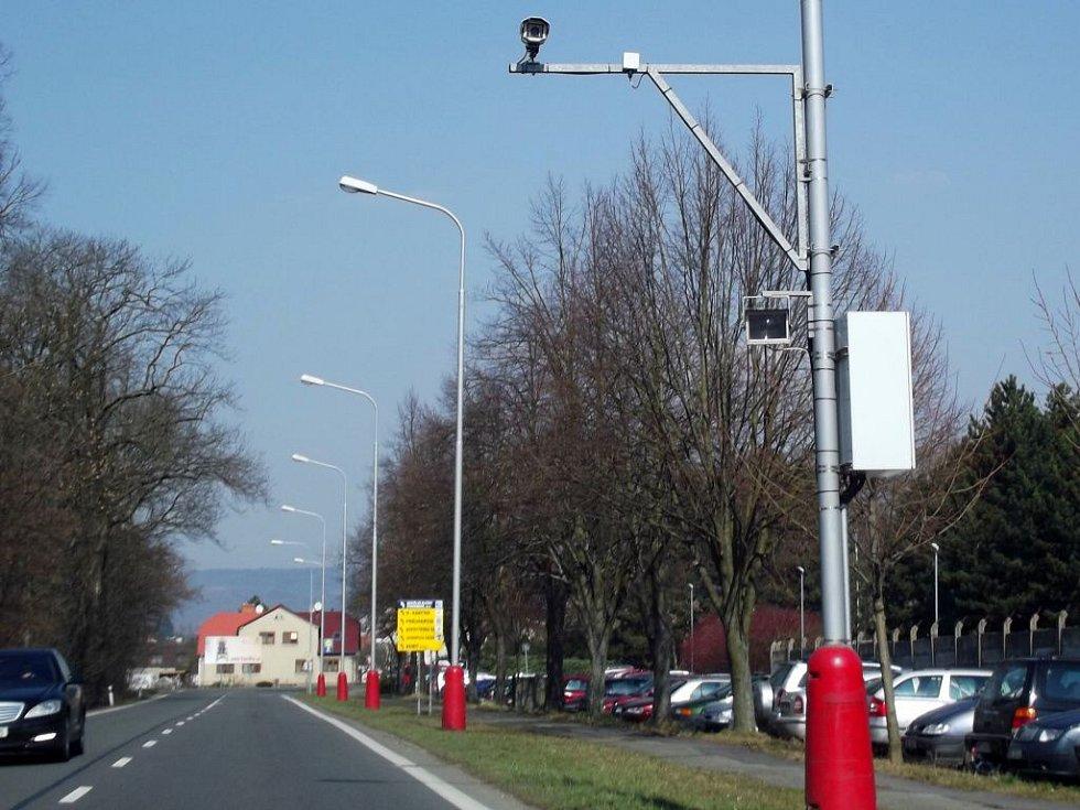 Stacionární radar v Olomoucké ulici ve Šternberku