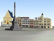 Šantovka Tower - viditelnost z Dolního náměstí