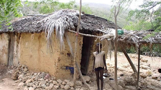 Domek s původní střechou.
