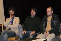 Roman Groszmann (vlevo), Miroslav Ondra (uprostřed) a Dušan Urban.
