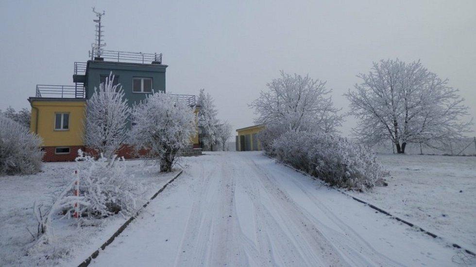 Předchozí zimy na meteorologické stanici Luká