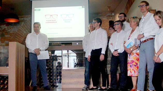 Olomoucká ODS v čele s lídrem Martinem Majorem (vlevo) představila program pro nadcházející komunální volby