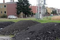 Skládka asfaltového recyklátu ve Velké Bystřici