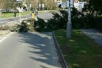 Silný vítr v Olomouckém kraji - 8. dubna 2018