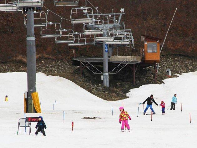 Lyžování v Parku Sportu Hrubá Voda v sobotu 12. března 2016