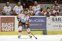 Hokejisté Mory (v popředí Pavel Patera)