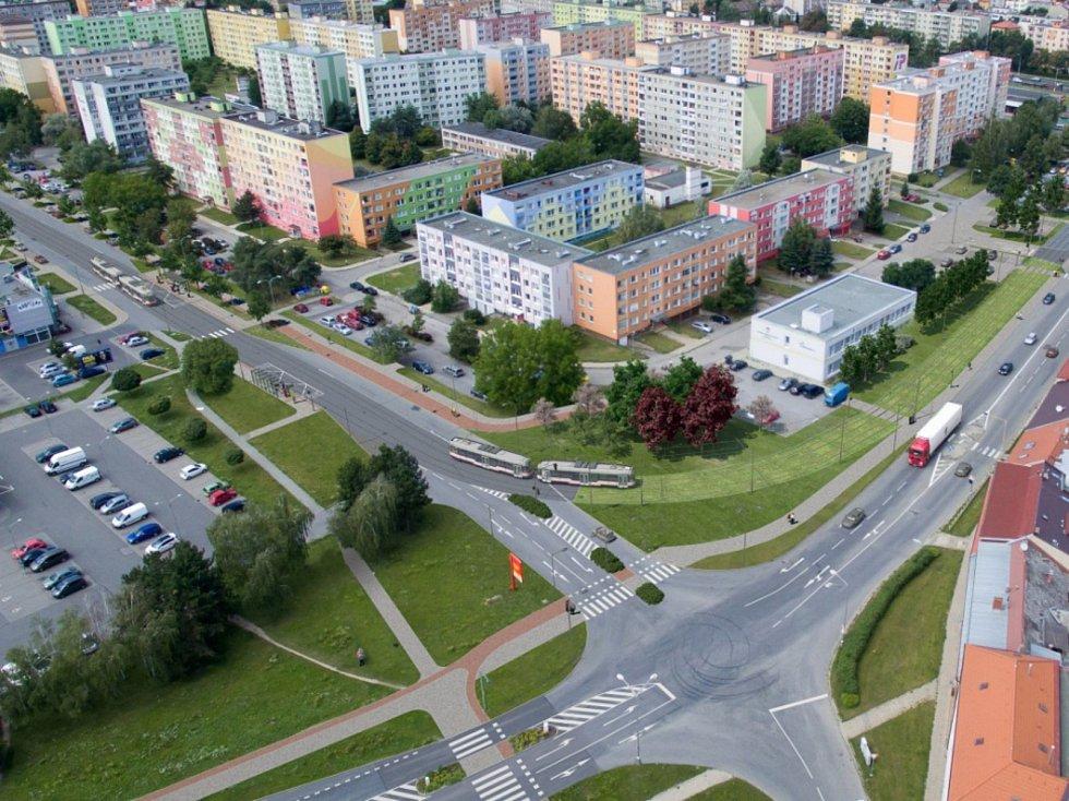 Rozšíření tramvajové trati na Nové Sady a do Slavonína. Na snímku je vizualizace - stav po - Rooseveltova - Zikova ulice
